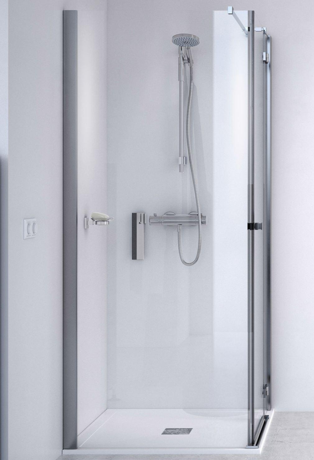 Aqualux id match square 1000 x 1000mm hinge door with side for 1000 pivot shower door