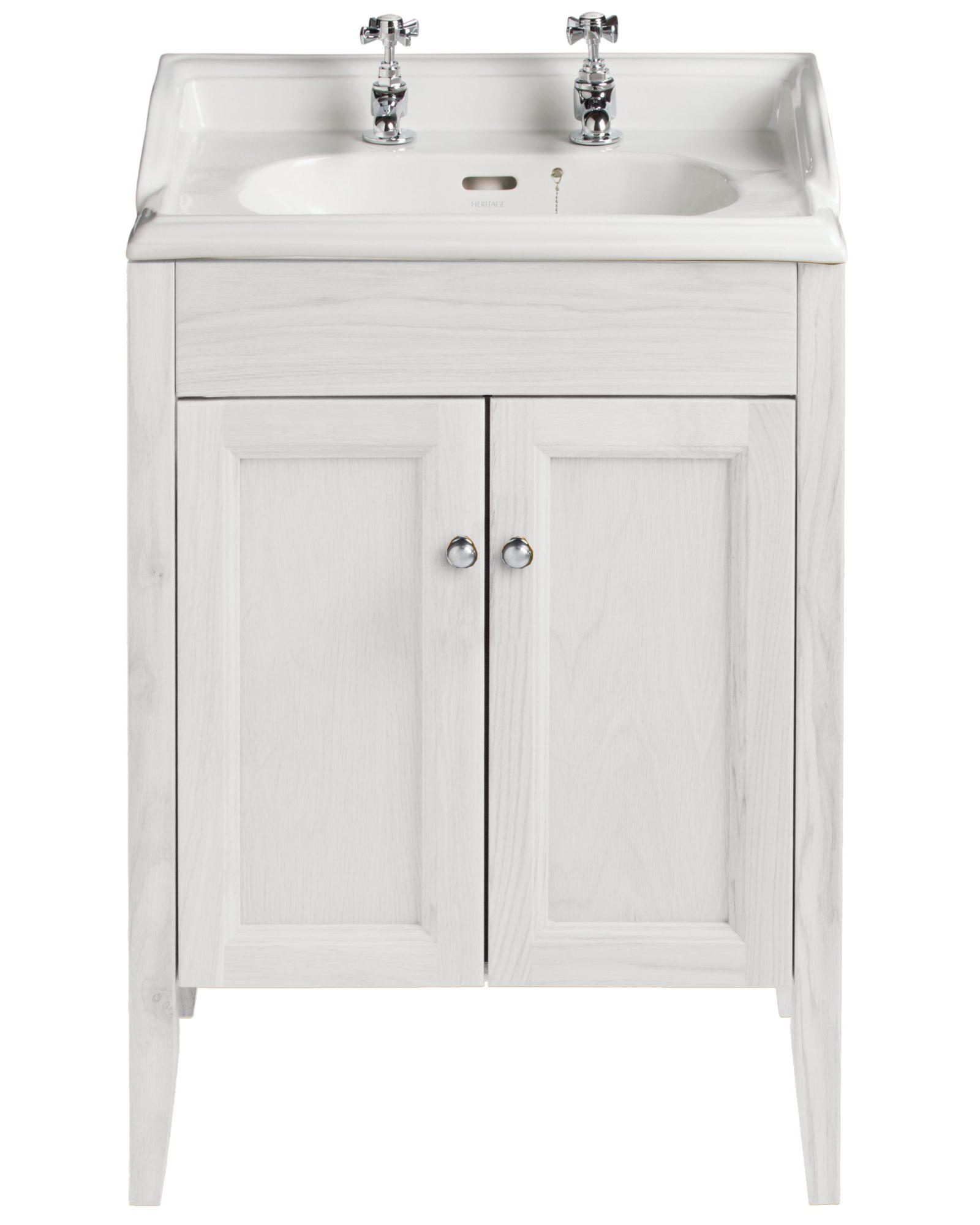 Heritage Bathroom Vanity: Heritage Caversham Dove Grey Vanity Unit For Dorchester