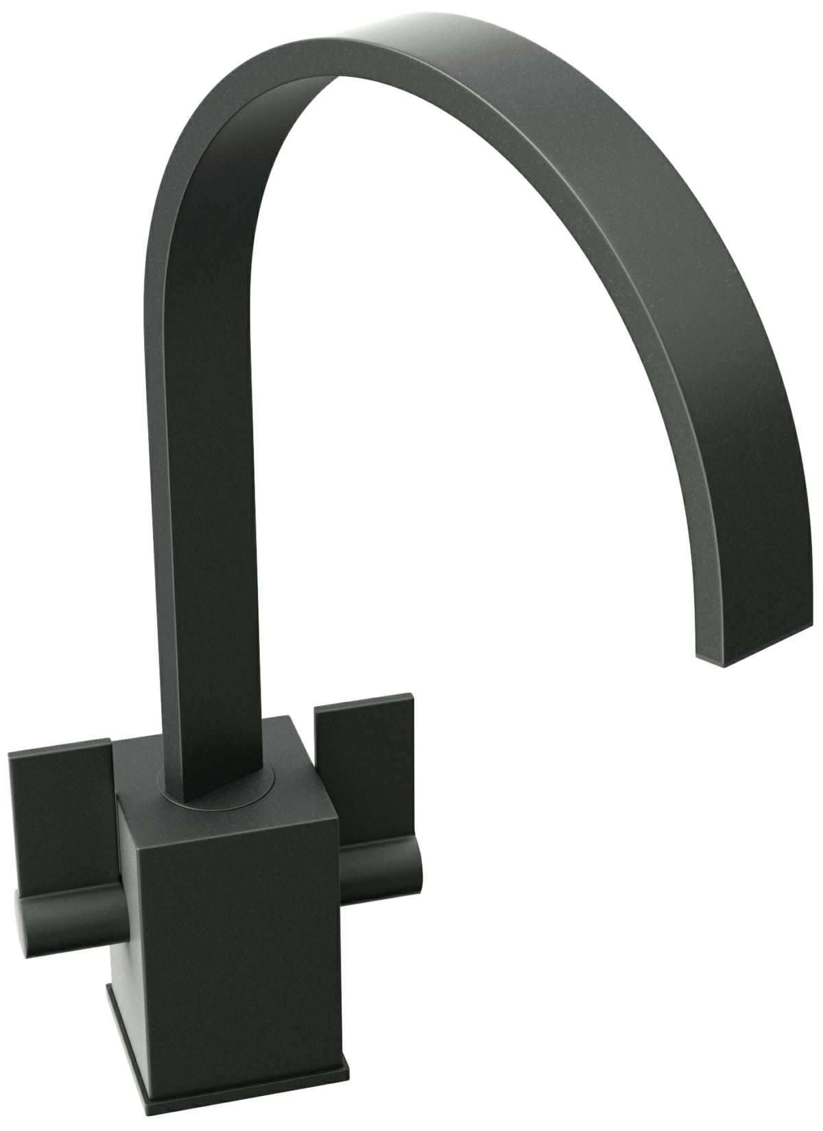 Abode Atik Granite Black Monobloc Kitchen Mixer Tap At1193