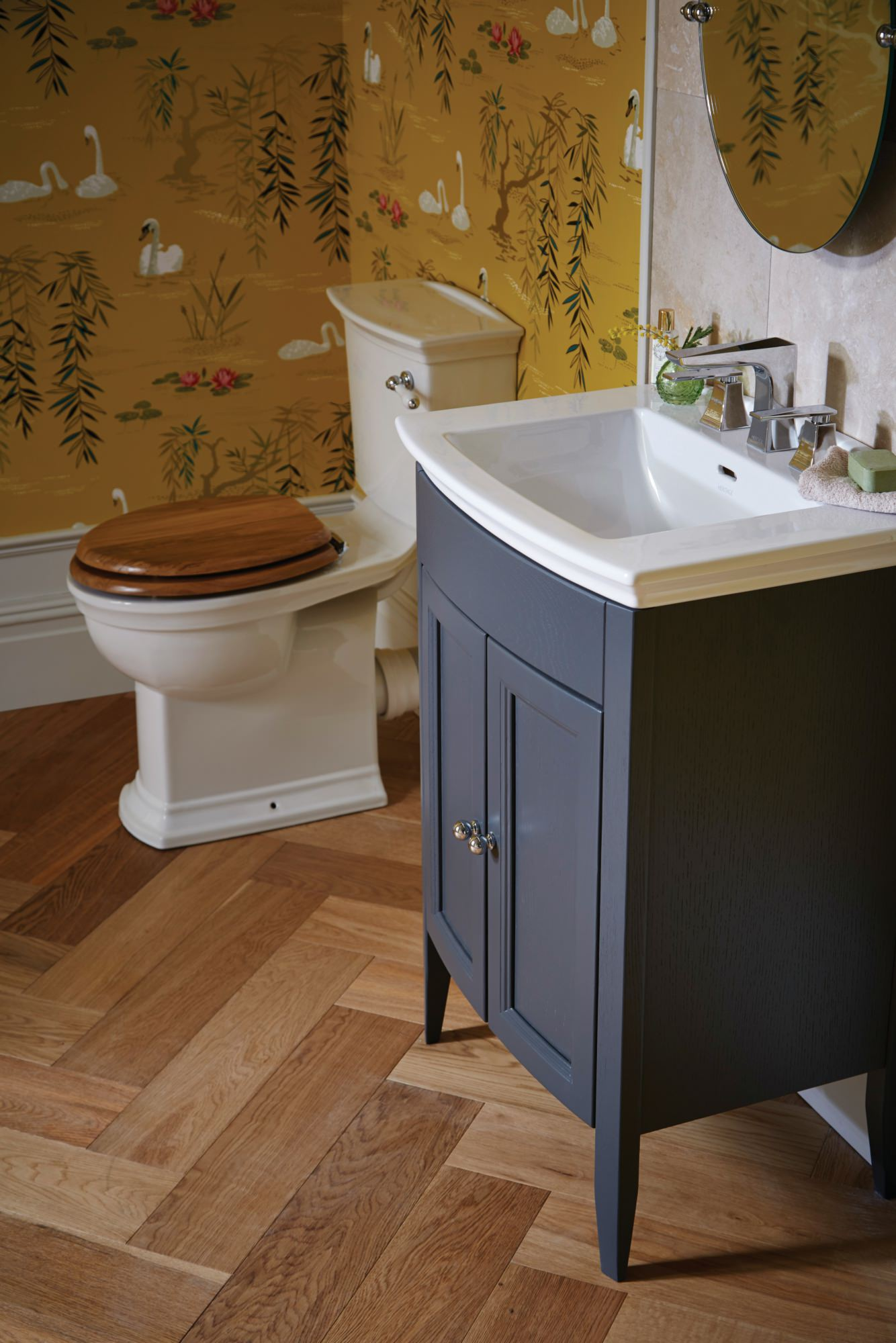 Heritage Caversham Graphite Vanity Unit For Blenheim Basin