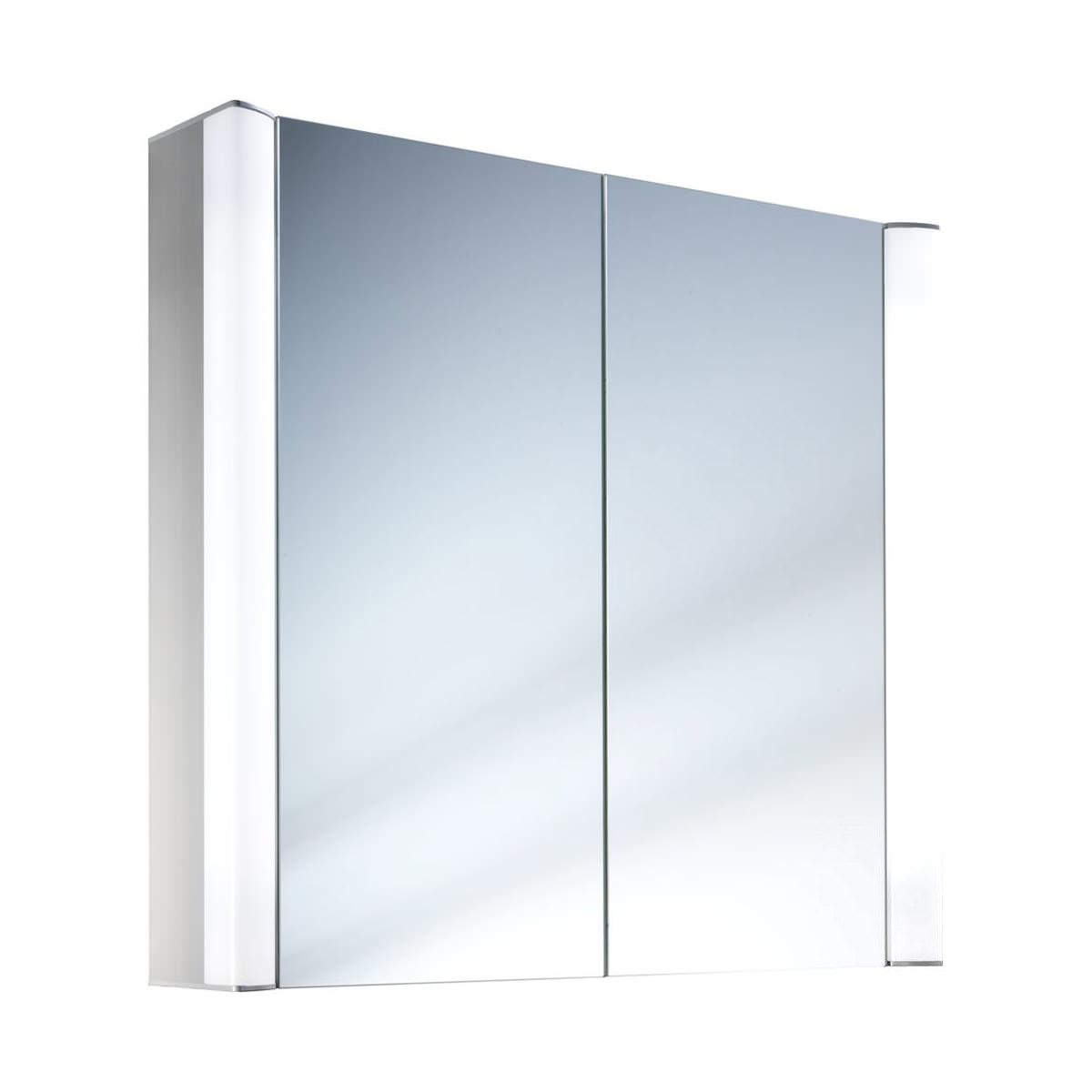 Schneider moanaline 2 door mirror cabinet 1000 x 640mm for Mirrored cabinet doors
