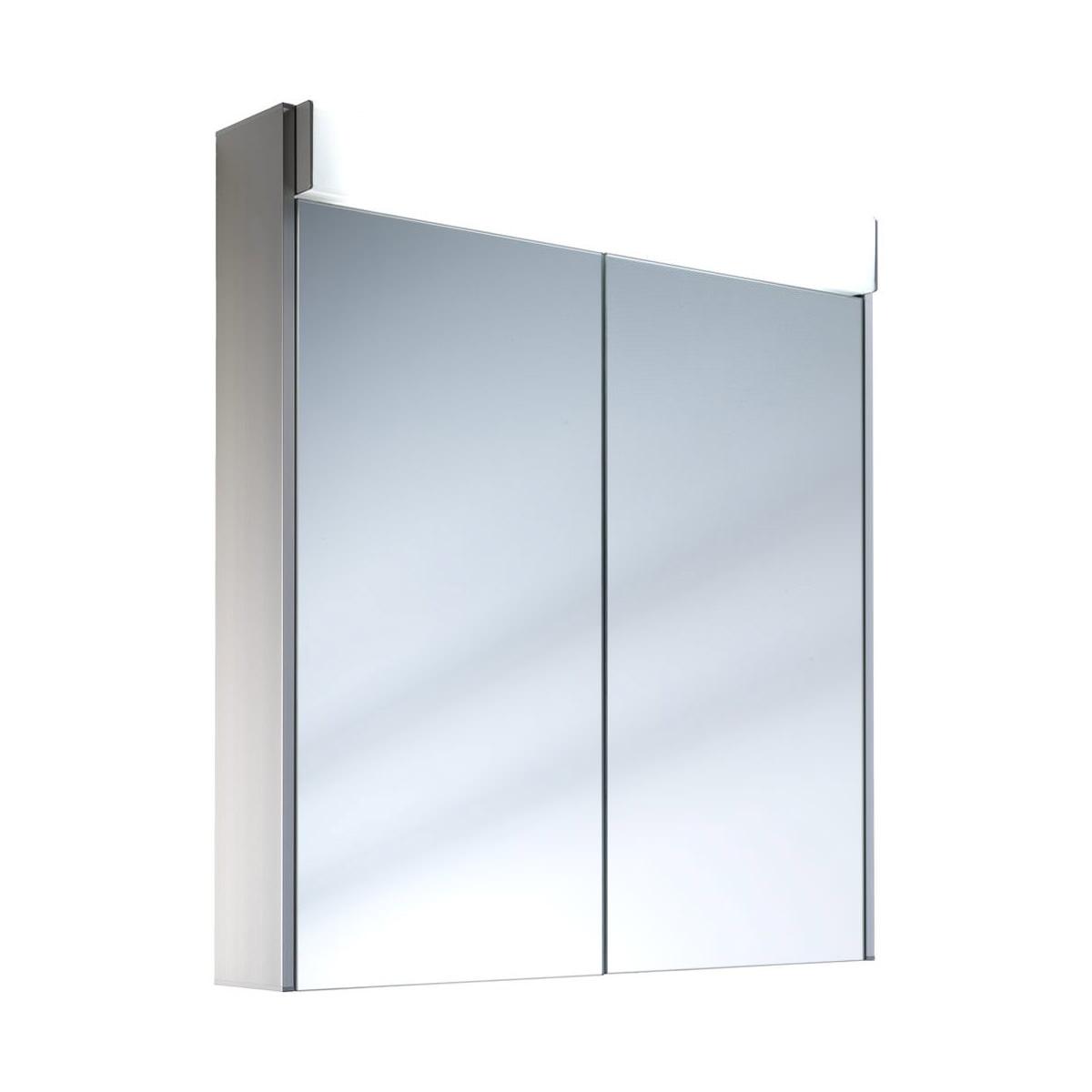 Schneider moanaline 2 door 700mm mirror cabinet with for Bathroom cabinets 700mm