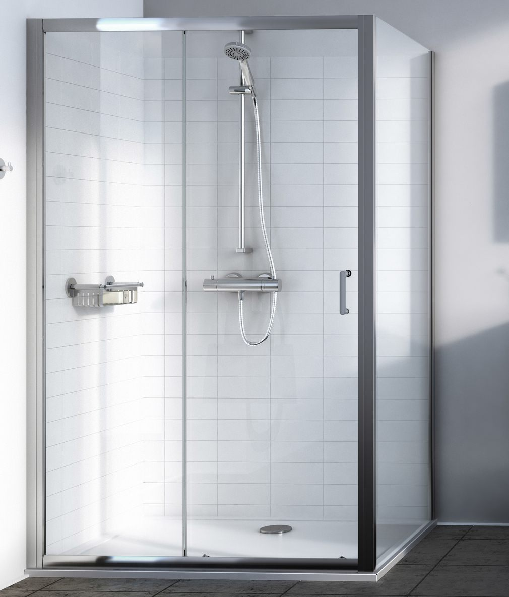 Aqualux source 1000mm sliding shower door 1192605 for 1000mm shower door