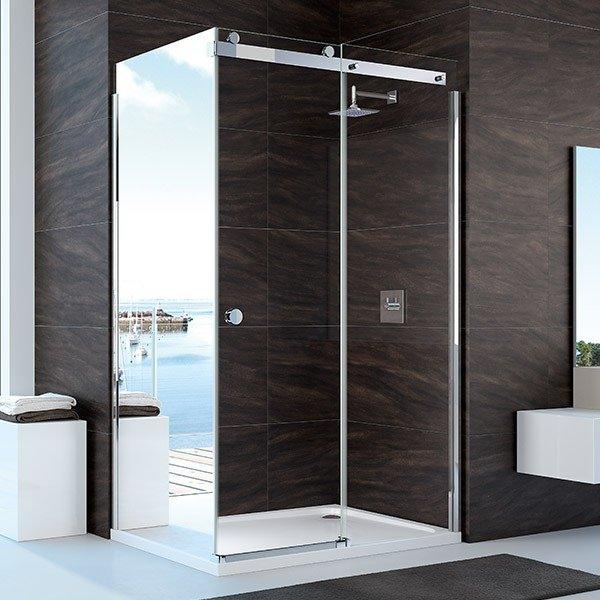 Merlyn 10 Series 1700mm Clear Glass Sliding Shower Door