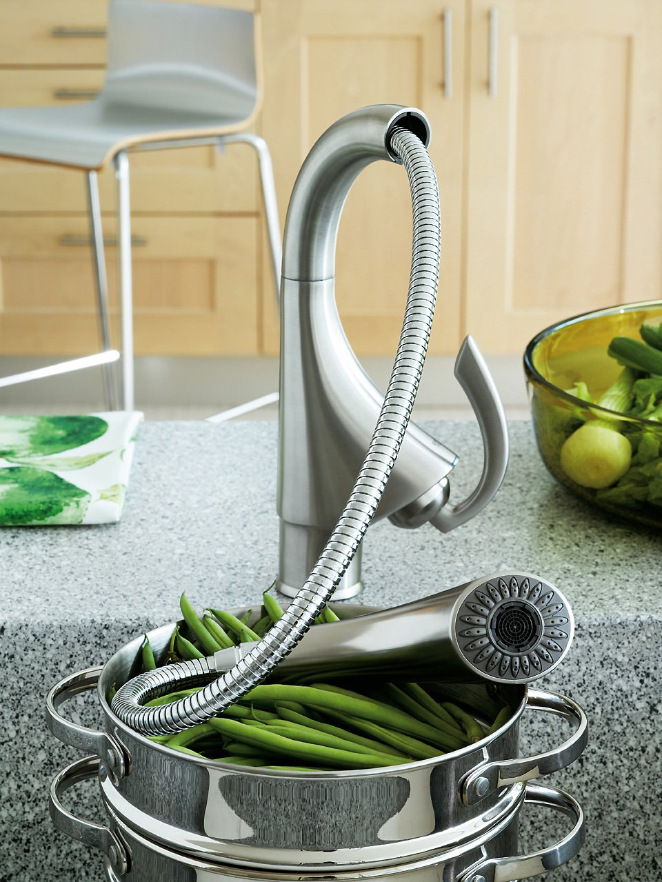 Grohe K4 Sink Mixer Tap With Pull Out Spray Chrome 33782000