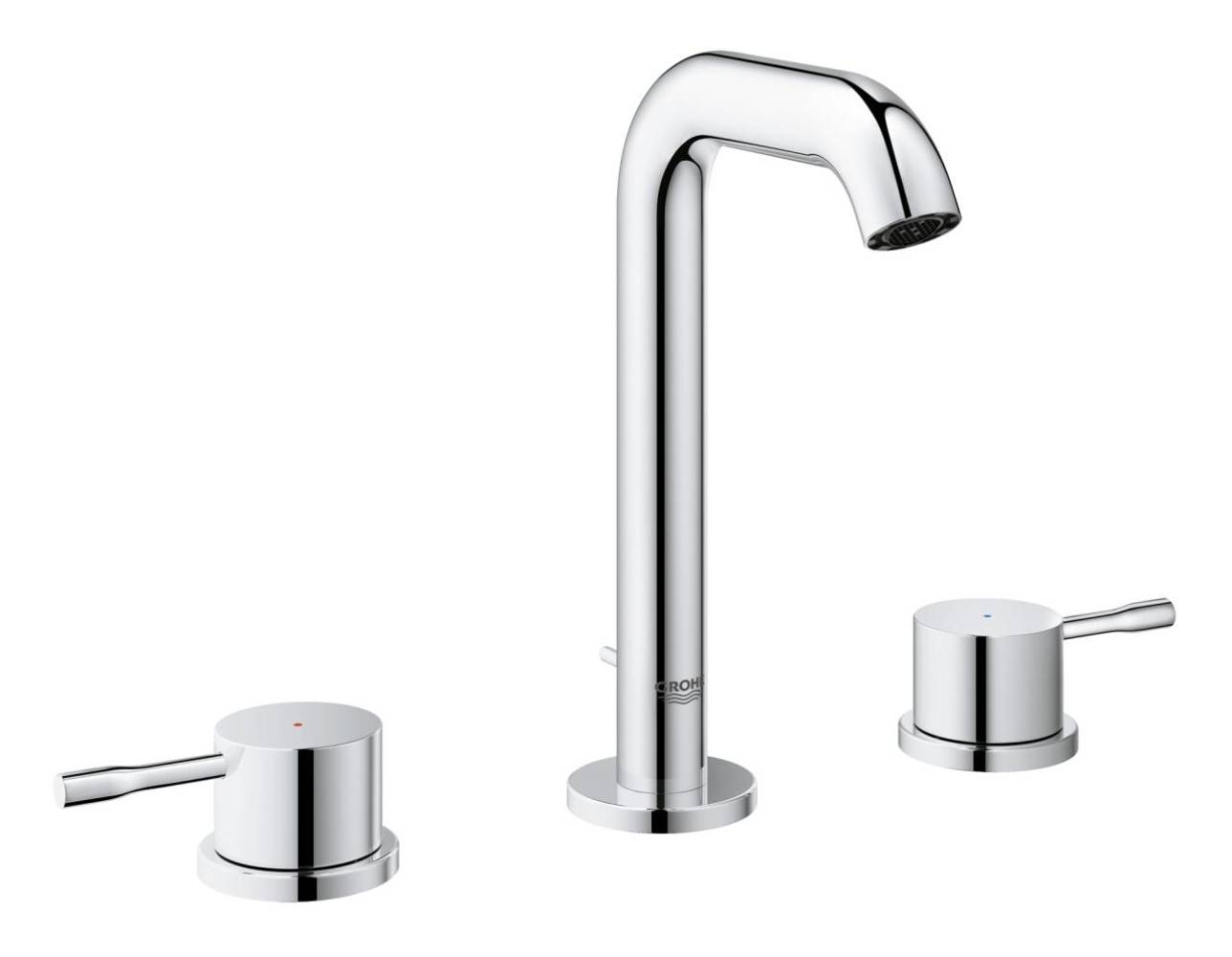 grohe essence new m size 3 hole basin mixer tap 20296001. Black Bedroom Furniture Sets. Home Design Ideas