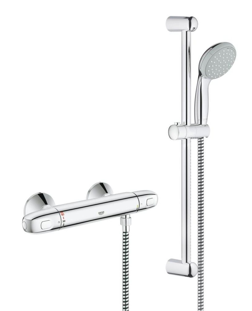 grohe grohtherm 1000 new thermostatic shower mixer valve. Black Bedroom Furniture Sets. Home Design Ideas