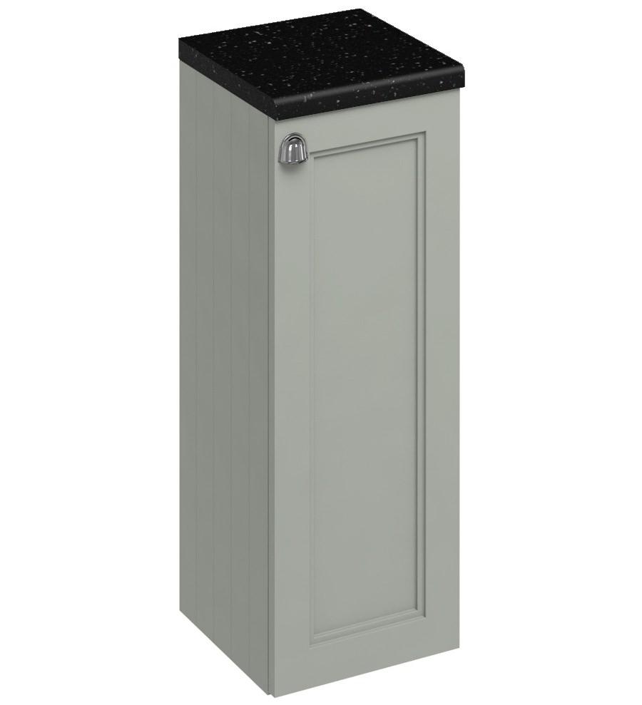Burlington 300mm dark olive single door base unit f30o for Bathroom cabinets 400mm wide