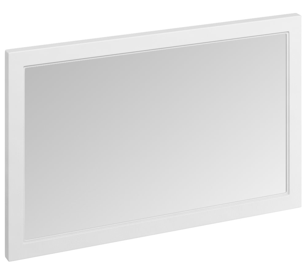 Burlington 1200mm matt white framed mirror m12ow for White framed mirror