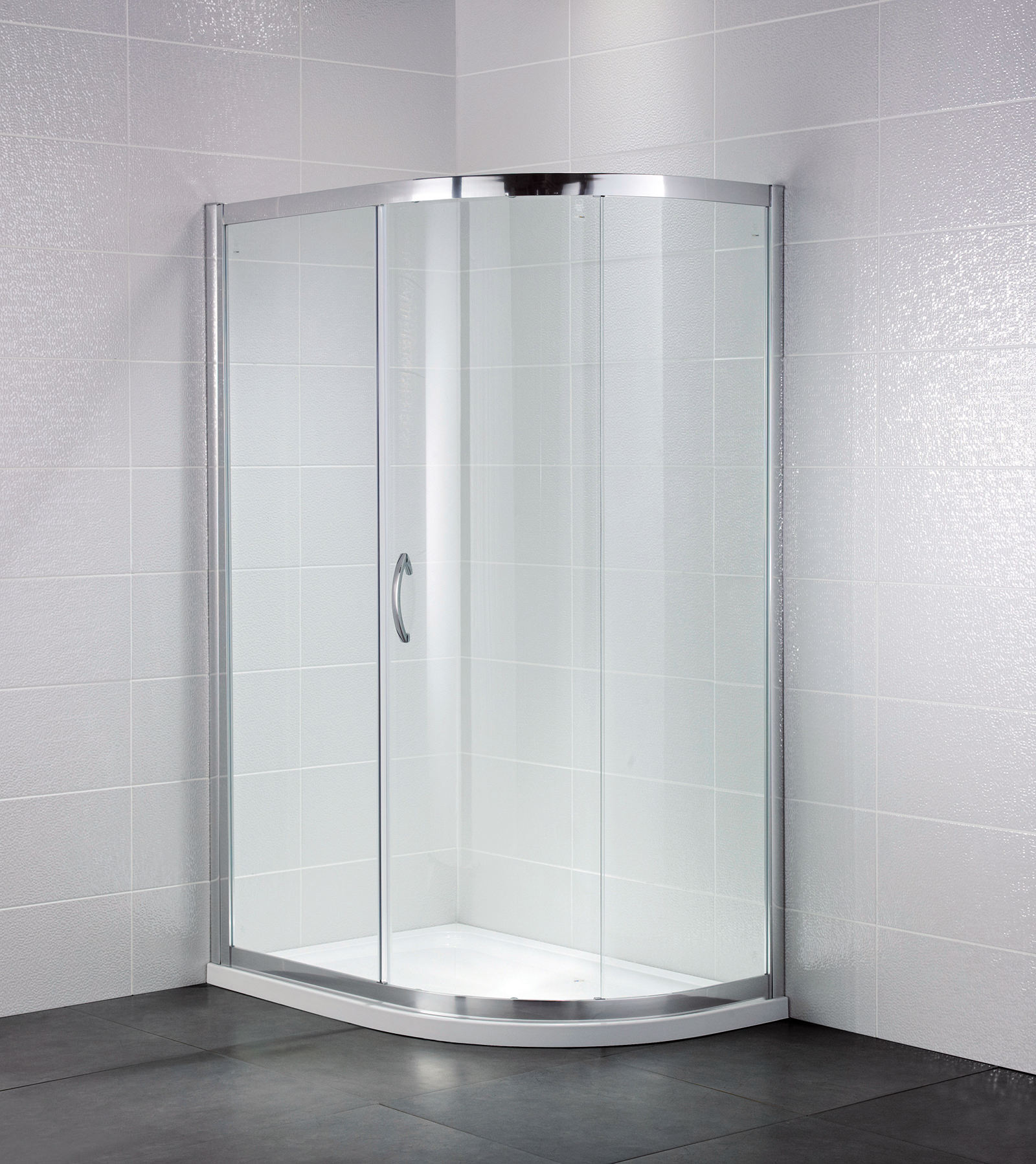 April identiti2 1000 x 800mm single door shower offset for Door quadrant