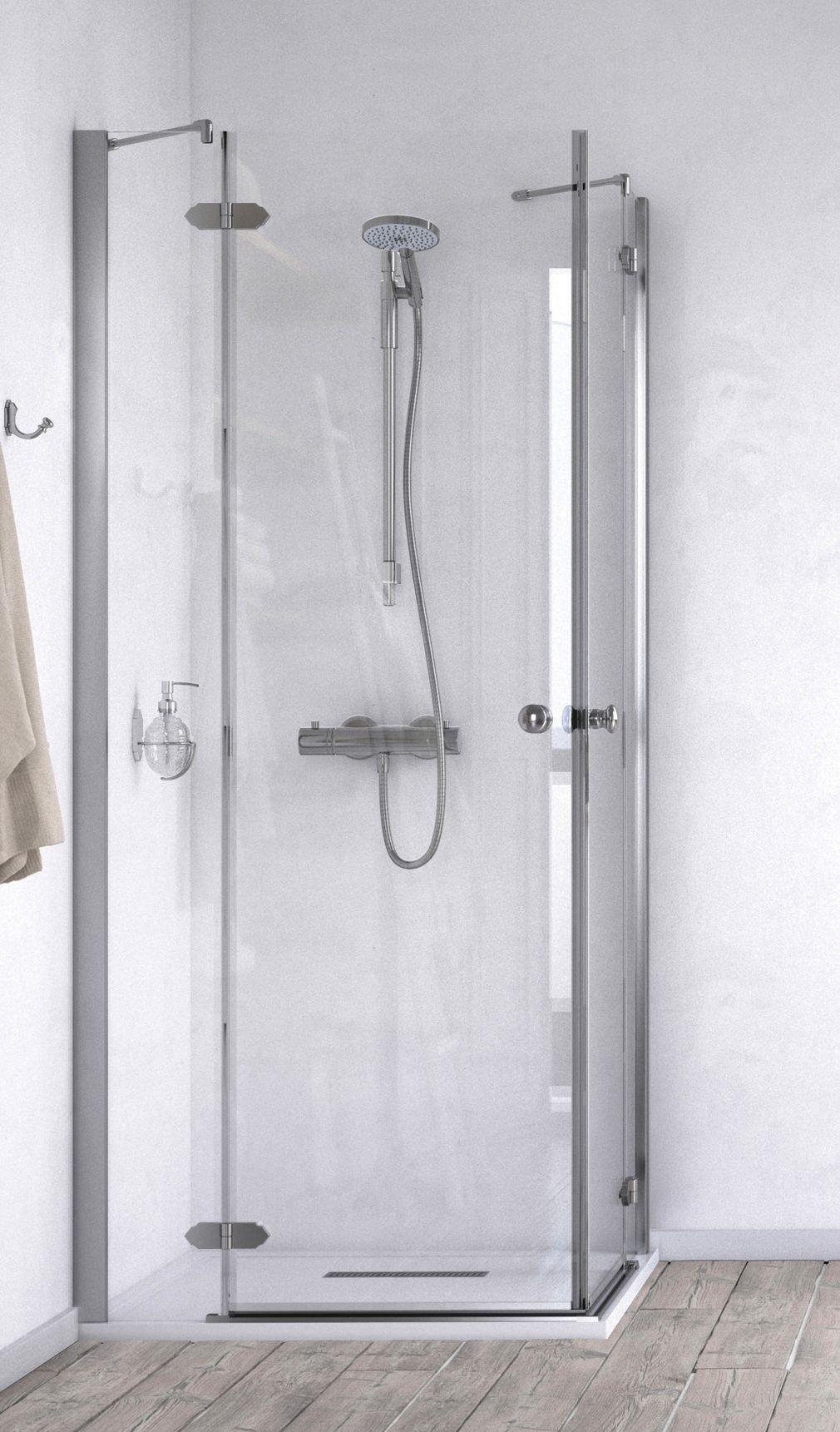 Aqualux ID Match Time 800 x 800mm Corner Entry Shower Enclosure ...