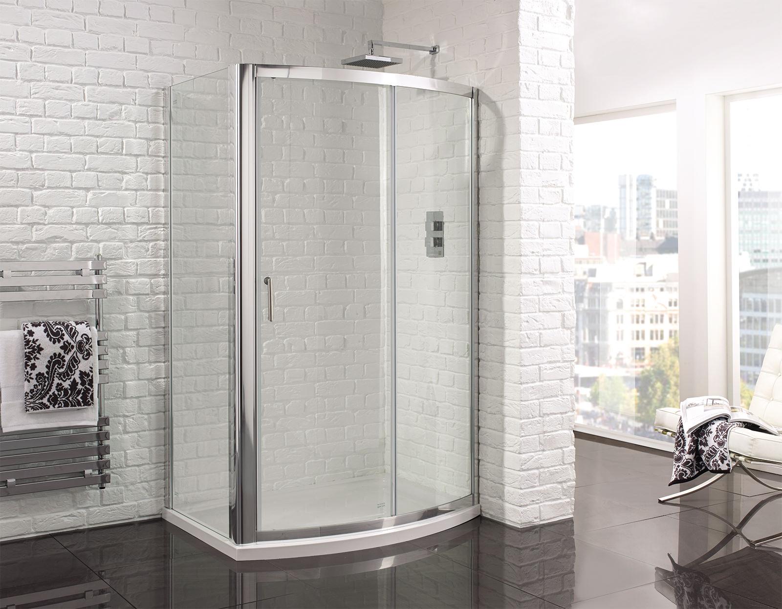 Aquadart venturi 6 1200mm bow fronted sliding shower door for 1200mm shower door