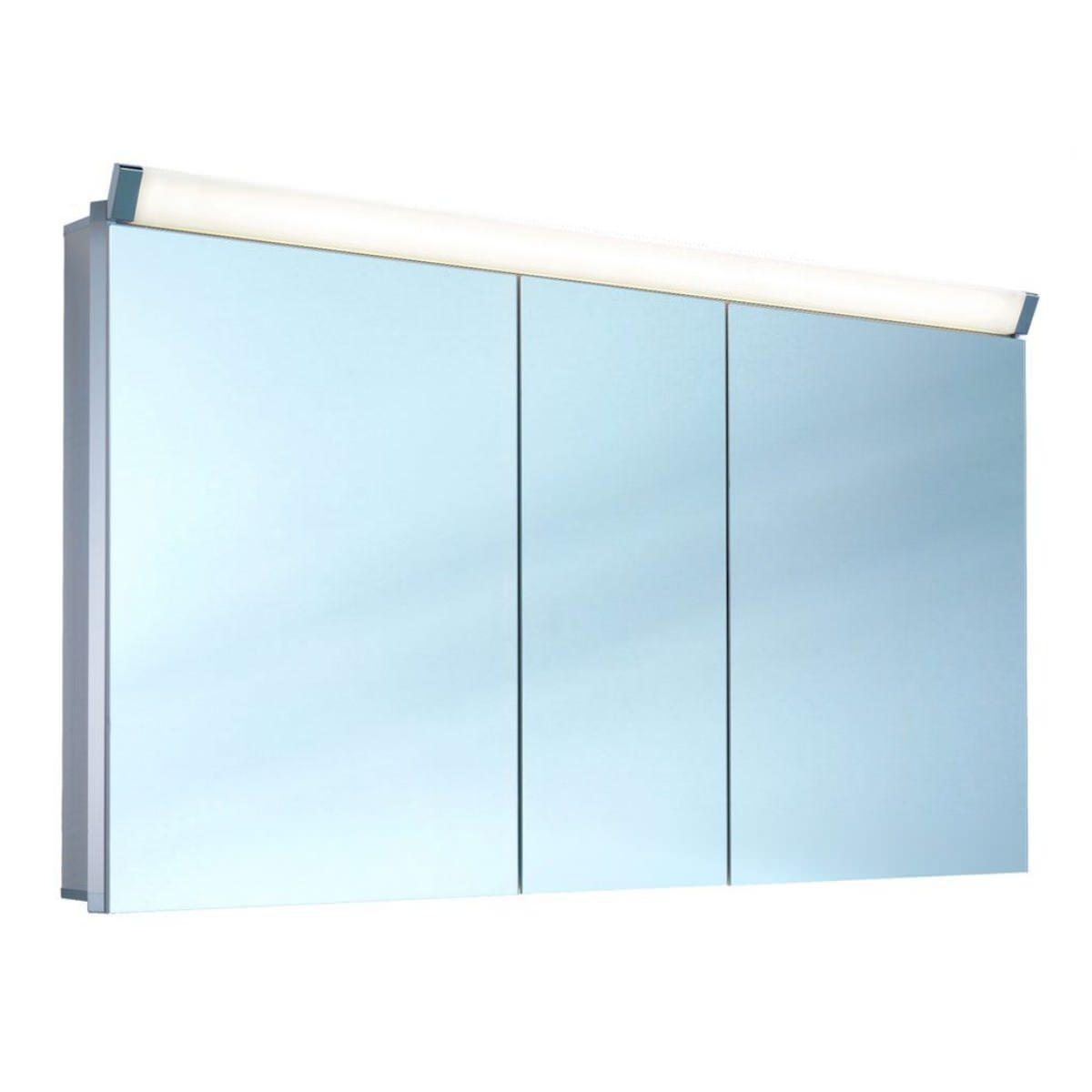 bathroom cabinets mirrored cabinets schneider paliline 150cm 3 door
