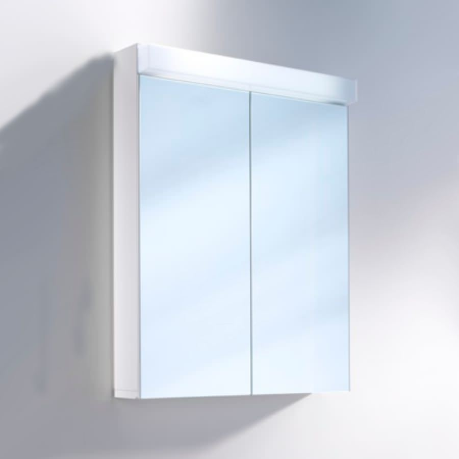 Schneider Lowline 60cm 2 Door Mirror Cabinet With Led Light