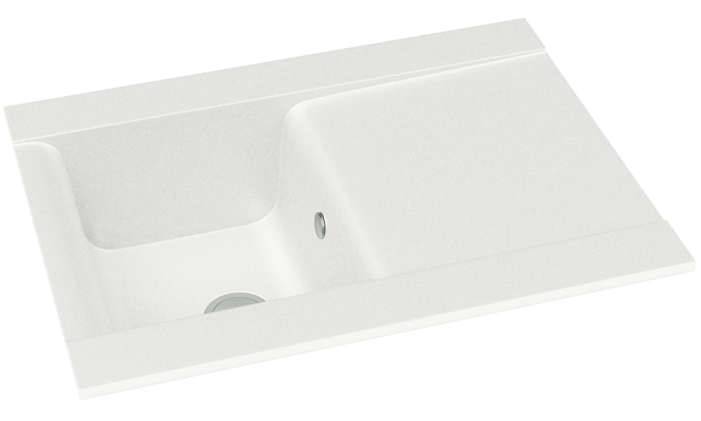 Abode Aspekt 1 0 Bowl White Granite Kitchen Sink With