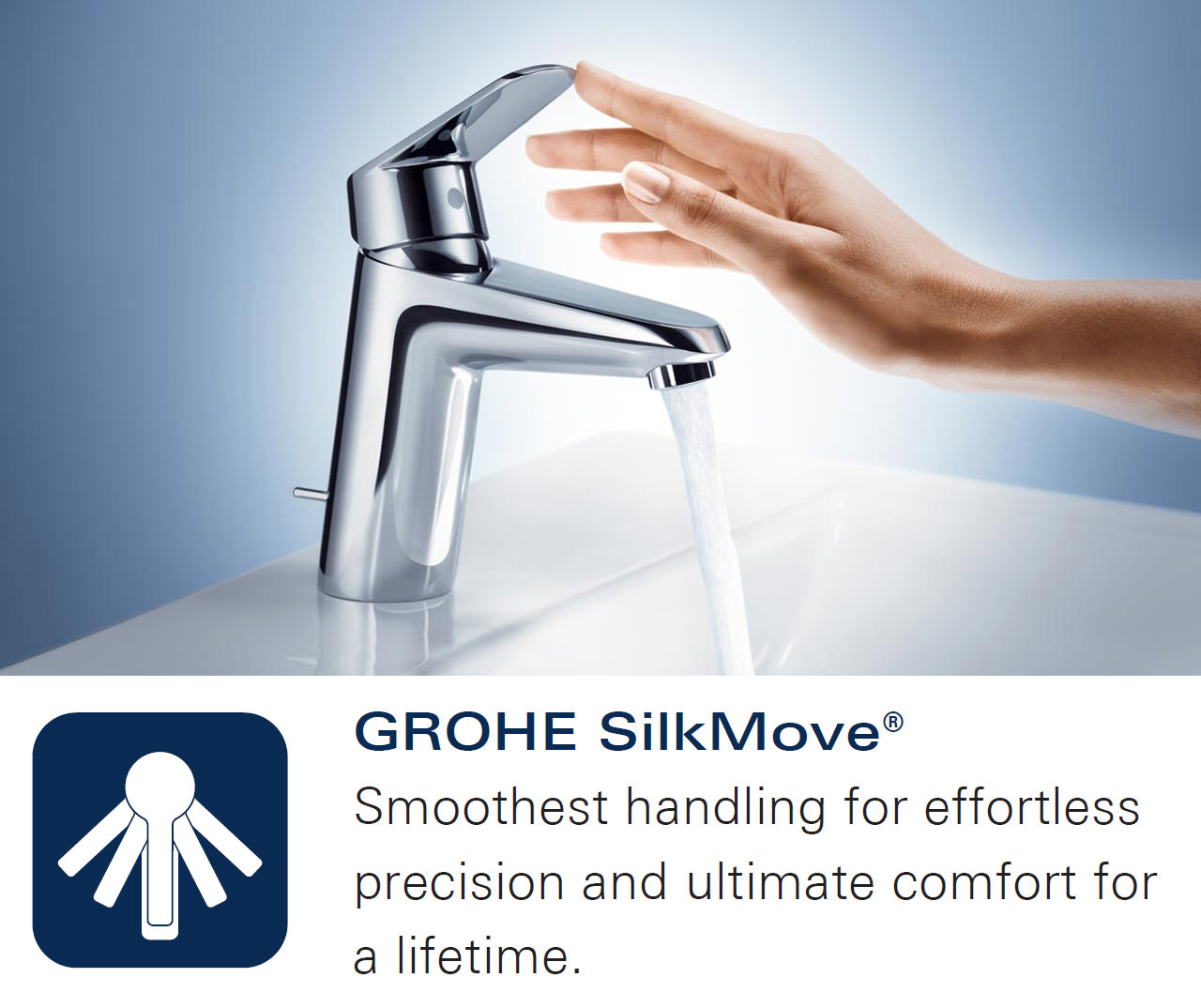 grohe zedra touch electronic single lever sink mixer tap chrome supersteel finish available. Black Bedroom Furniture Sets. Home Design Ideas