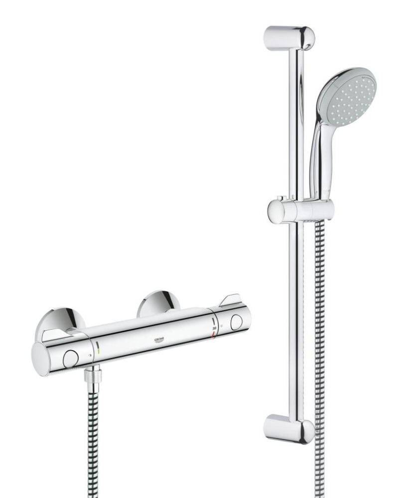 grohe grohtherm 800 thermostatic shower mixer valve with. Black Bedroom Furniture Sets. Home Design Ideas