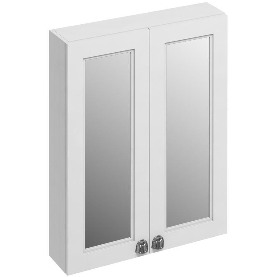Burlington 600mm Double Door Mirror Cabinet Matt White F6mw