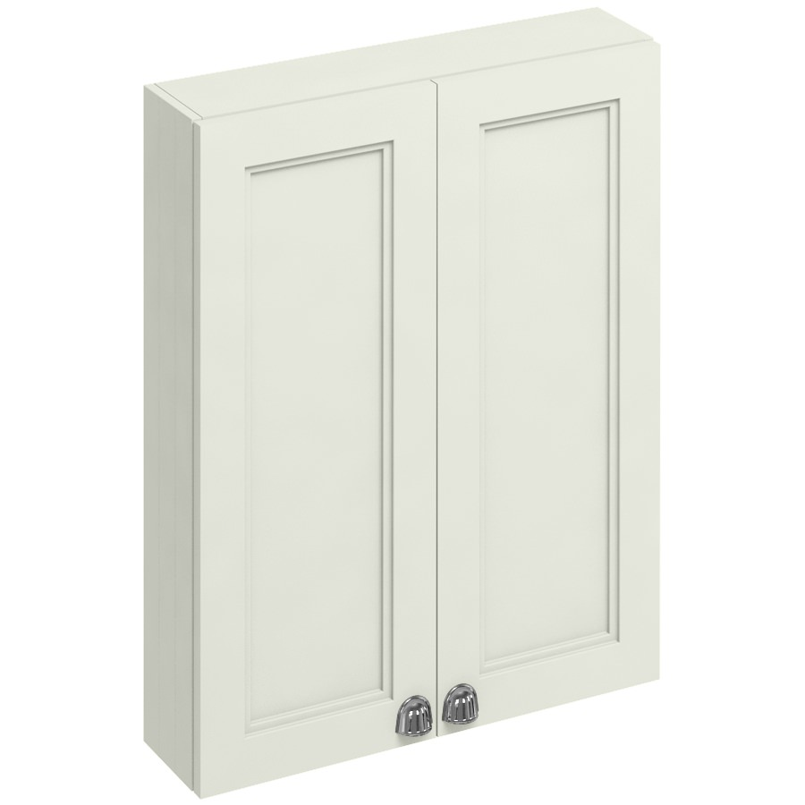 Burlington 600mm sand double door cabinet f6ws for Bathroom cabinets 600mm