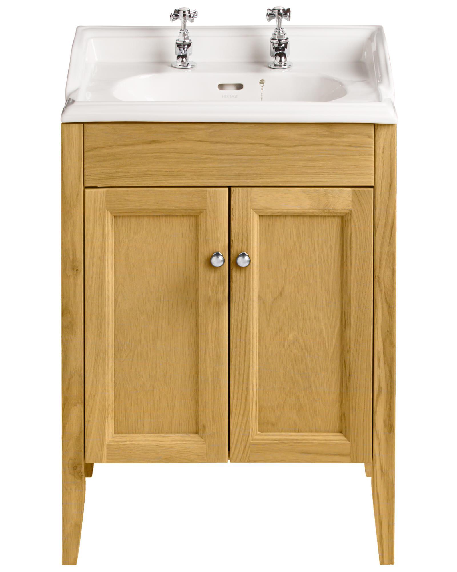 Heritage Bathroom Vanity: Heritage Caversham Oak Vanity Unit For Dorchester Square