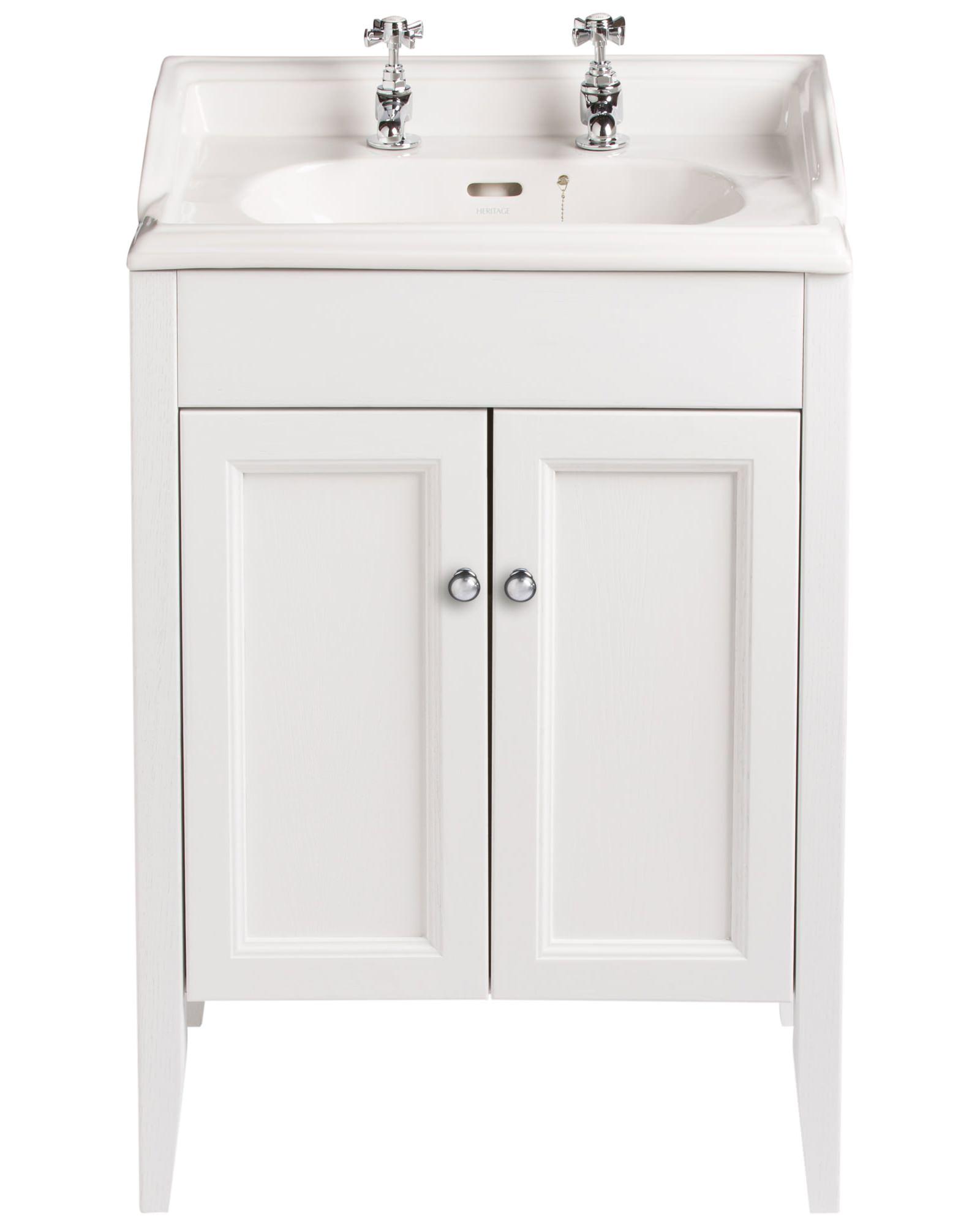Heritage Bathroom Vanity: Heritage Caversham White Ash Vanity Unit For Dorchester