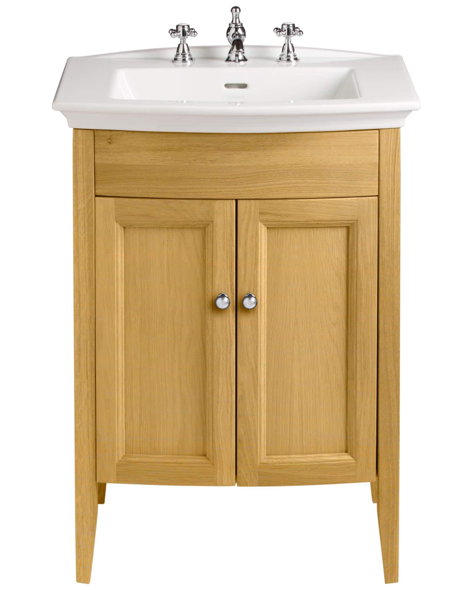 Heritage Bathroom Vanity: Heritage Caversham Oak Vanity Unit For Blenheim Basin