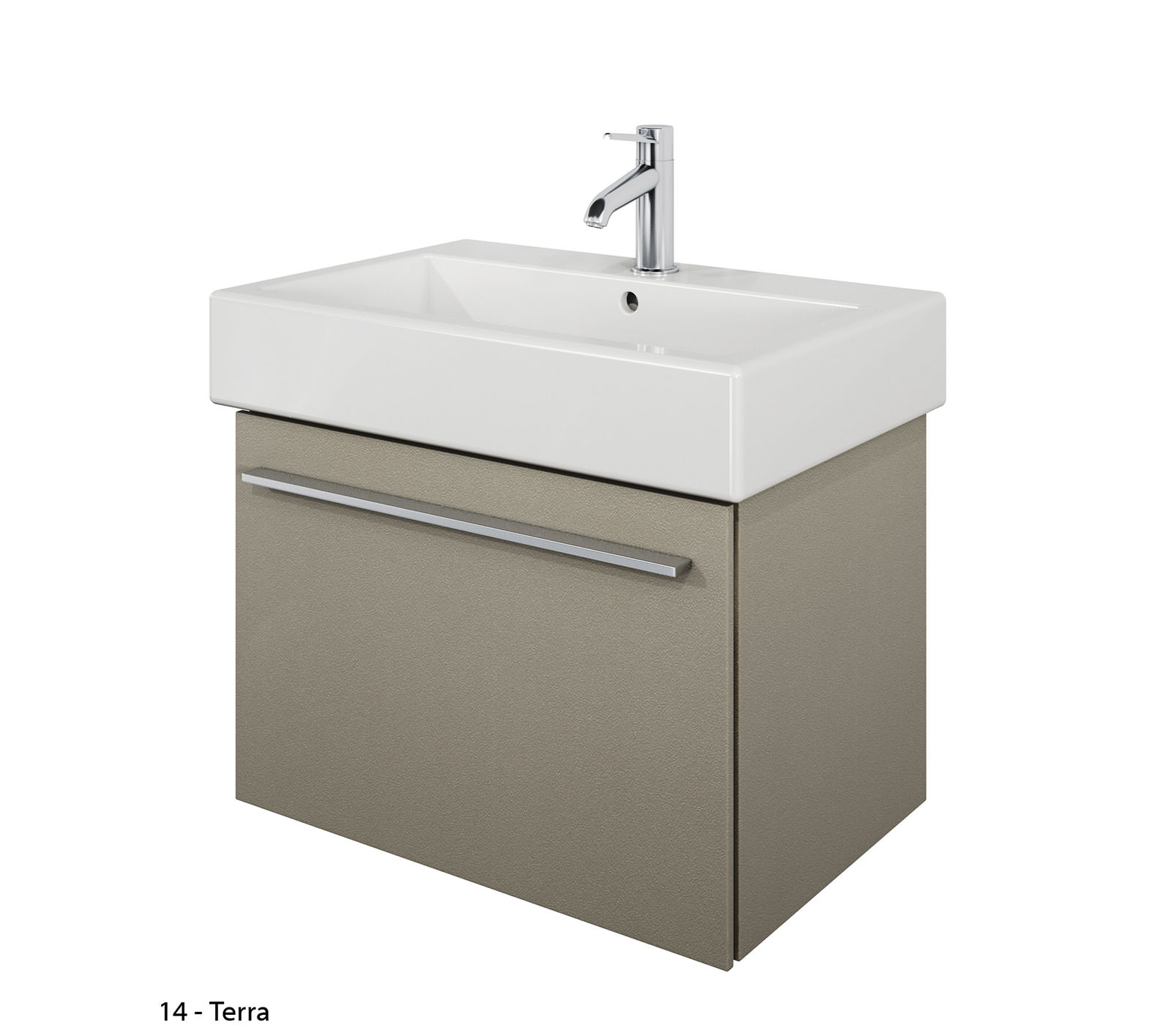 Duravit X 650mm Vanity Unit With 700mm Vero Washbasin XL