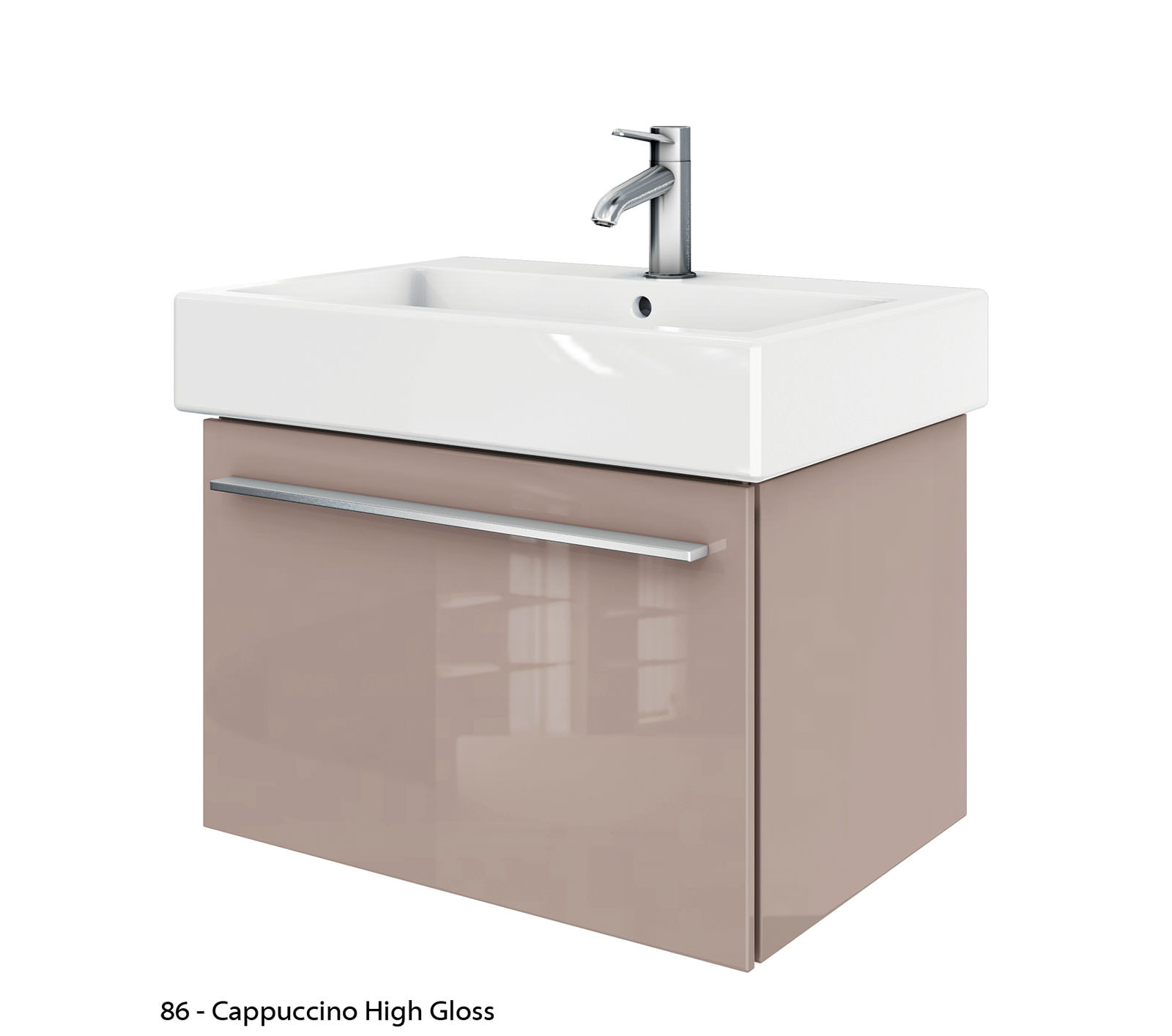 Duravit x large 650mm vanity unit with 700mm vero for Bathroom furniture 700mm