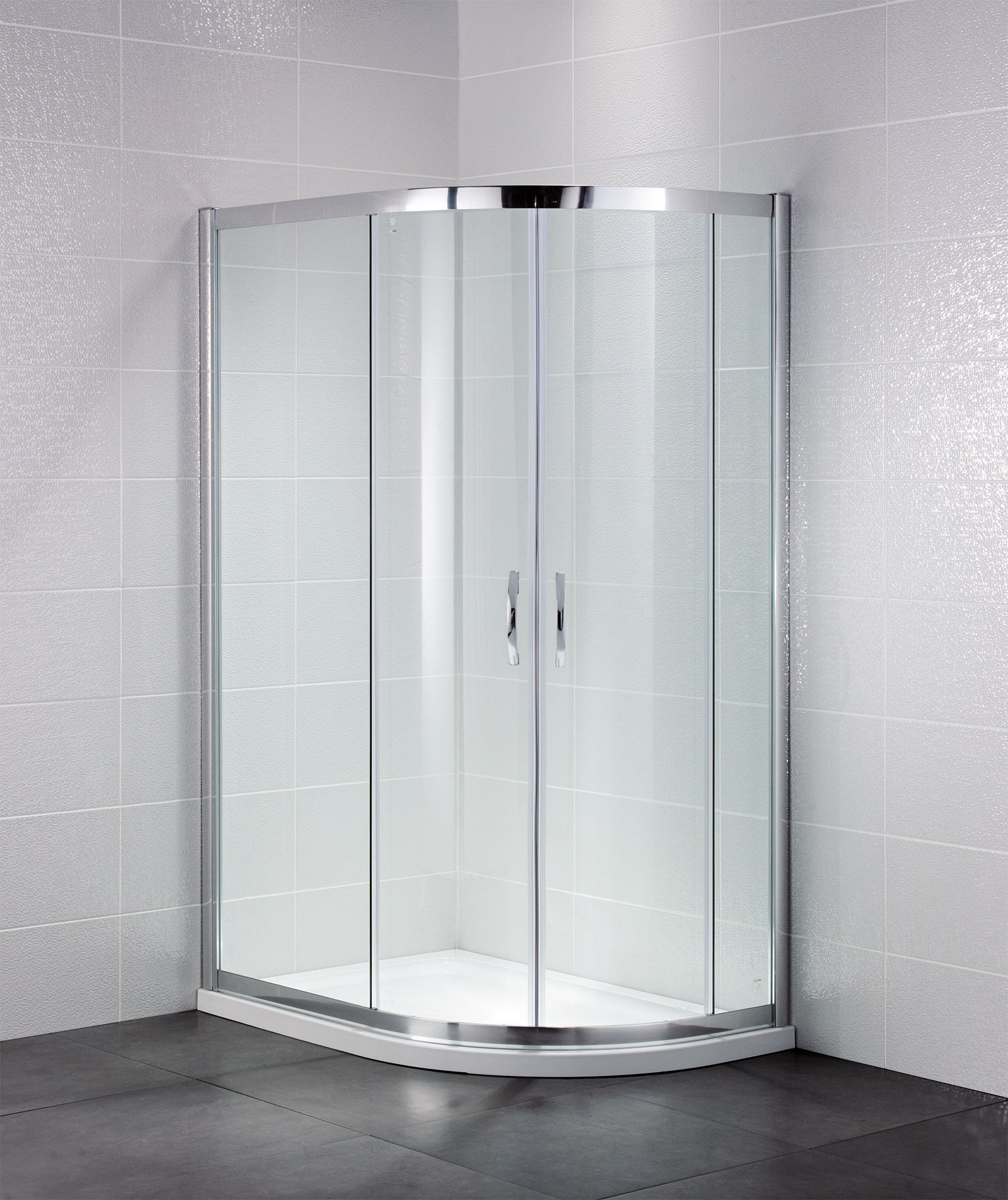 April identiti2 900 x 760mm double door offset shower for Door quadrant