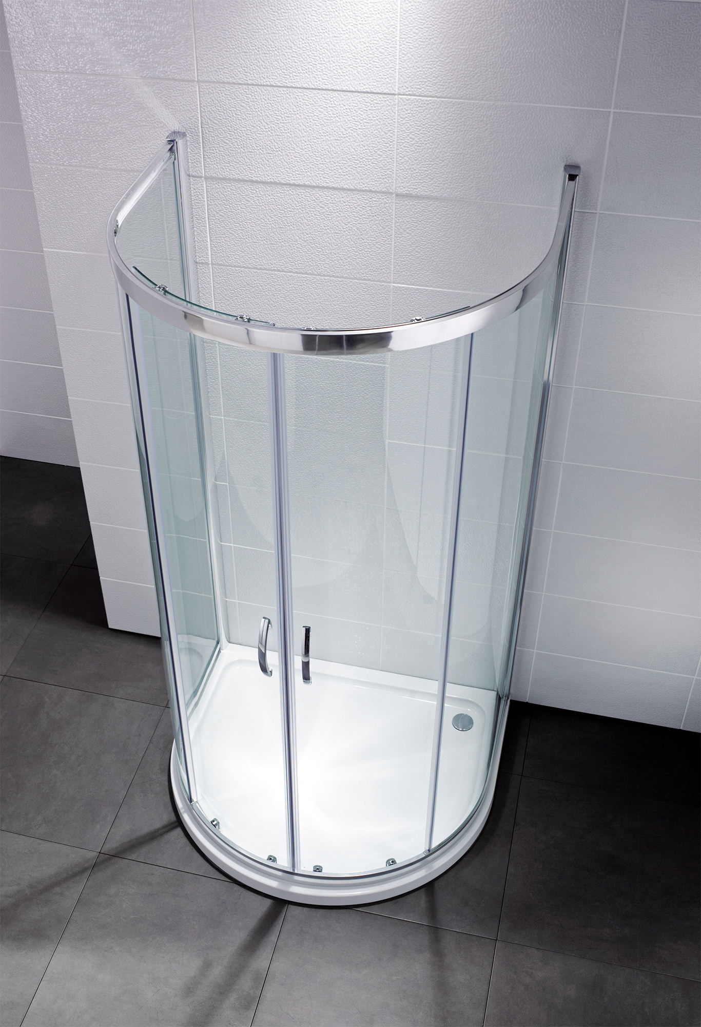 April Identiti2 915 x 1040mm U Shaped Double Door Shower Quadrant ...