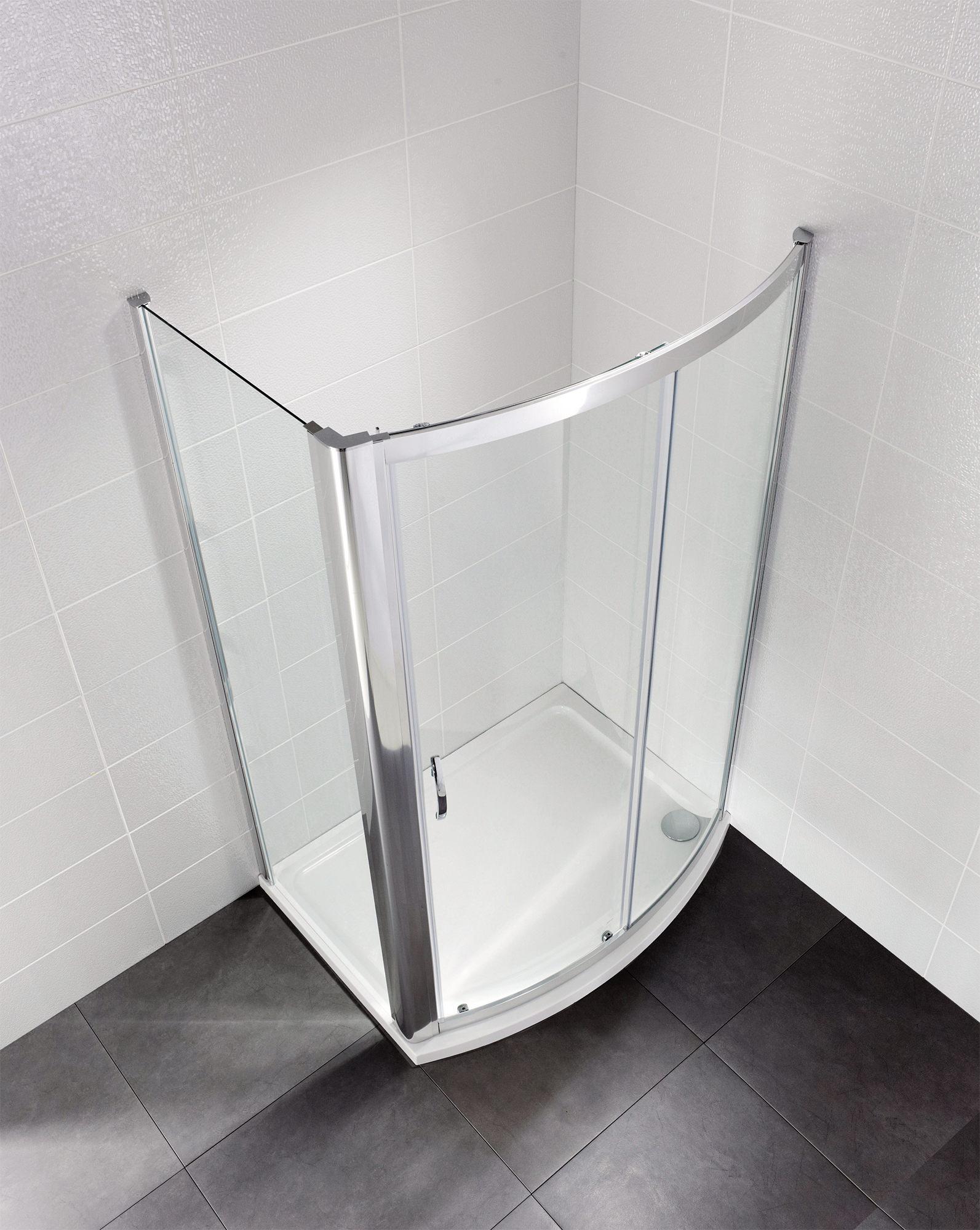 April Identiti2 1200mm Bow Fronted Sliding Shower Door