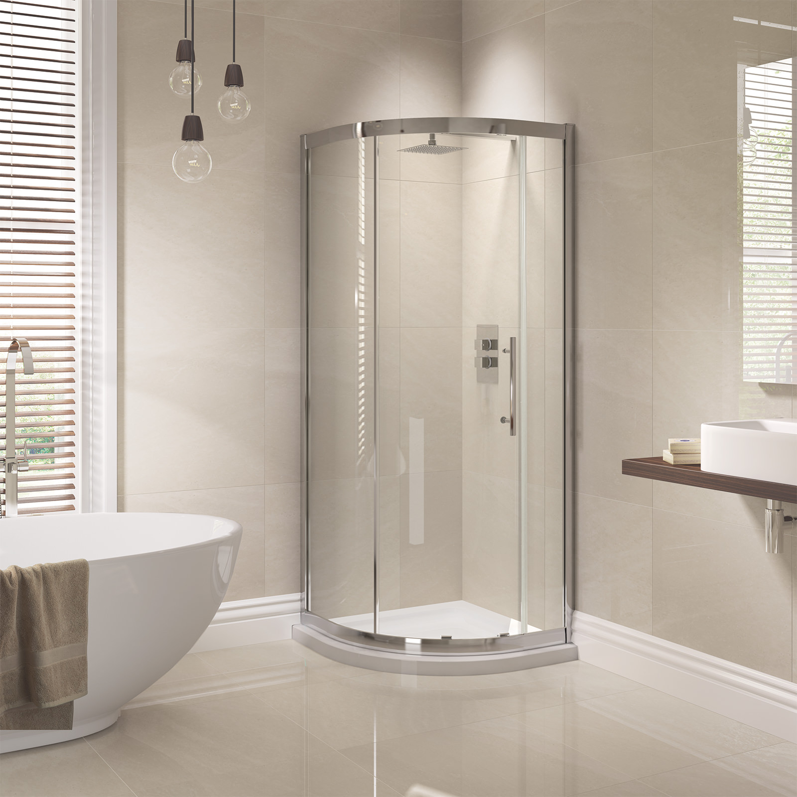 April prestige 1000 x 800mm single door offset shower for Door quadrant