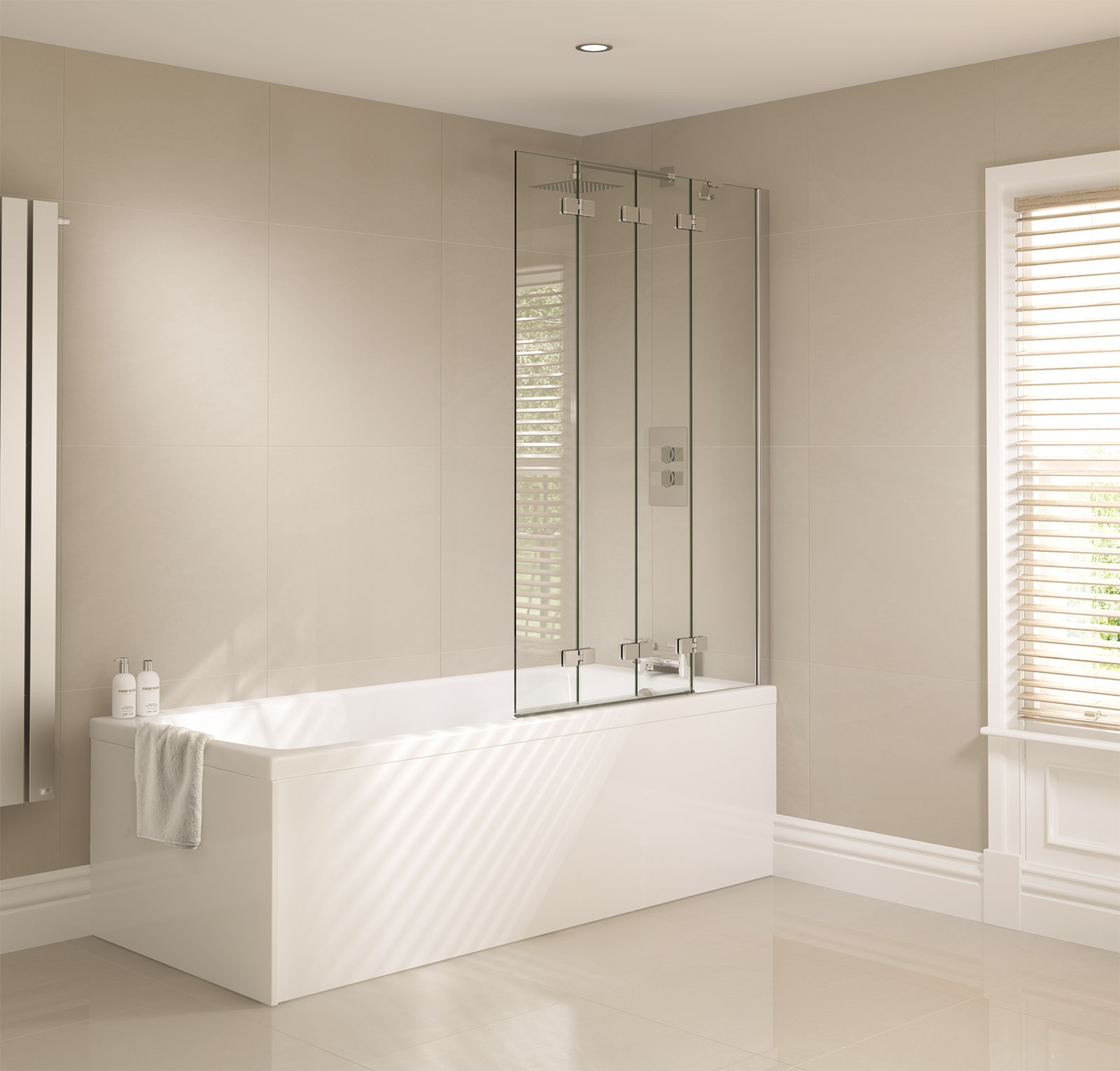 frameless bath screen mobroi com april prestige 965 x 1500mm frameless 4 fold bath screen ap9501ls