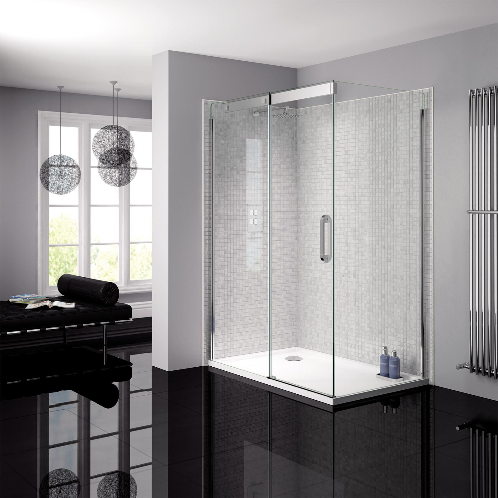April Prestige Frameless 1950mm High Sliding Shower Door