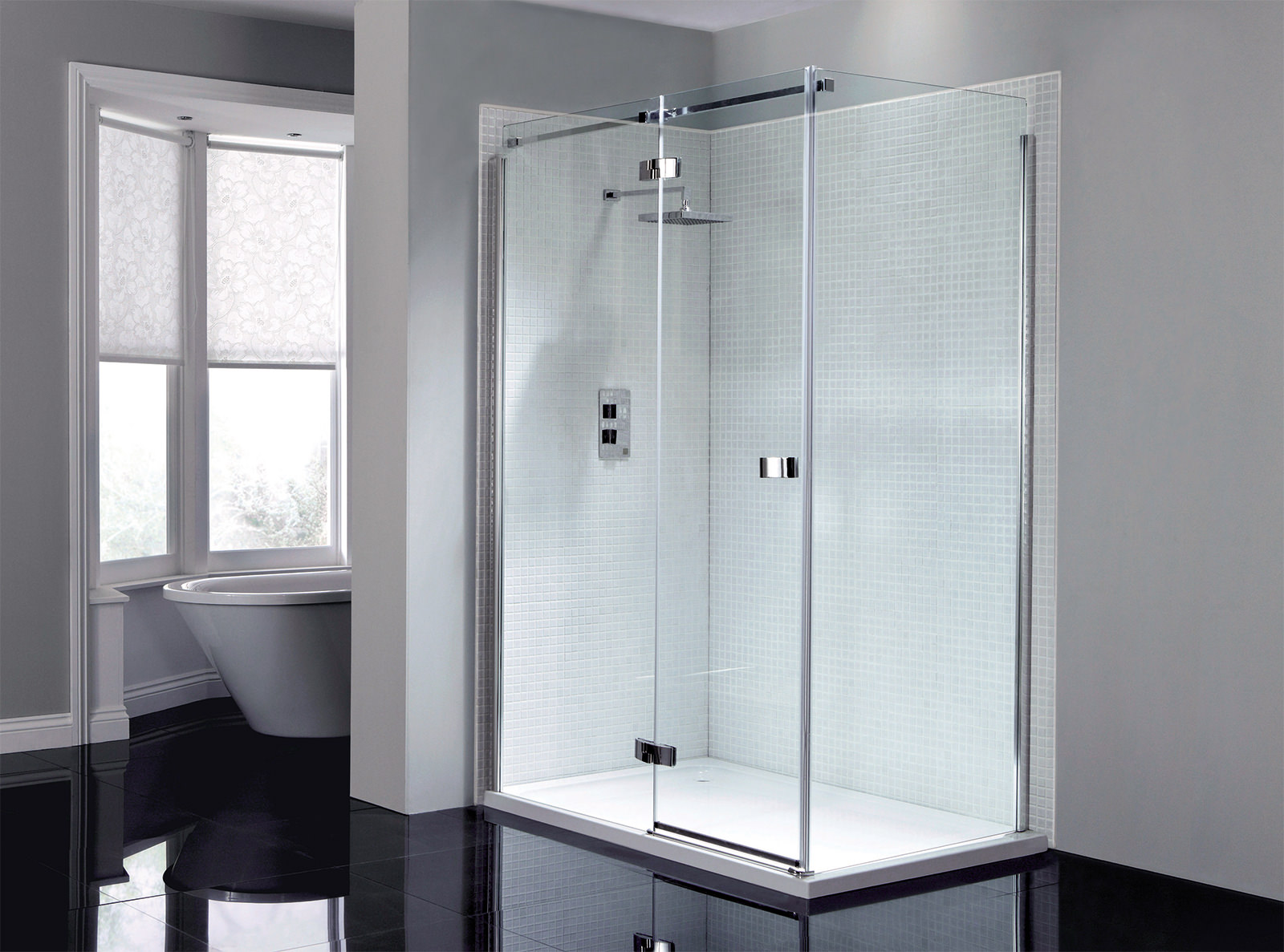 April Prestige Frameless 1200mm Hinged Shower Door Ap8912l