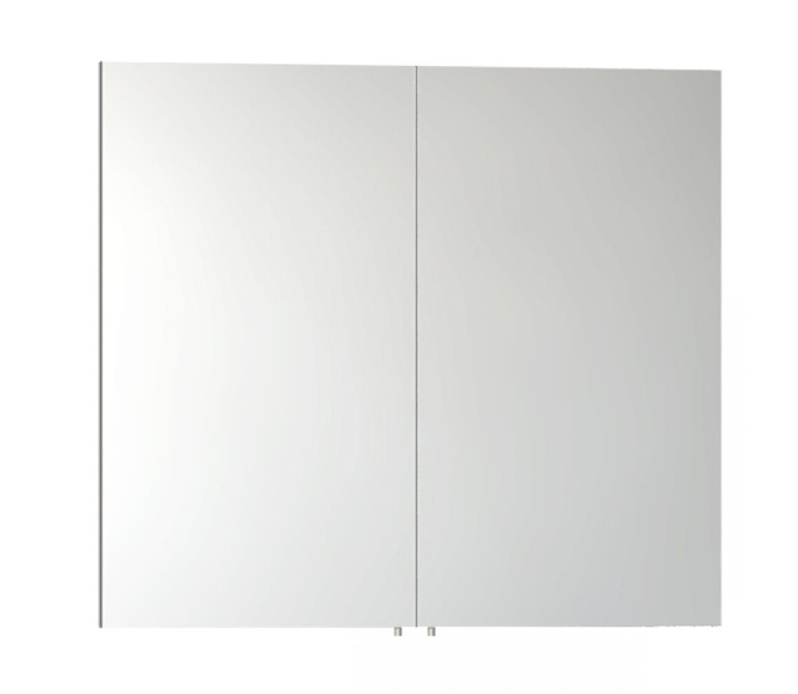 Vitra S50 Classic 800mm White High Gloss Double Door Mirror Cabinet 57083