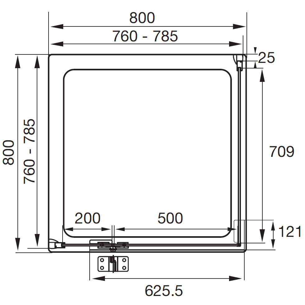 hinged shower door installation instructions