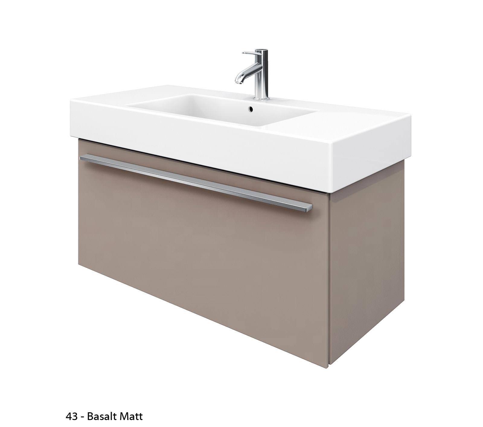 duravit x large 1000mm vanity unit with 1050mm vero washbasin xl605301818. Black Bedroom Furniture Sets. Home Design Ideas