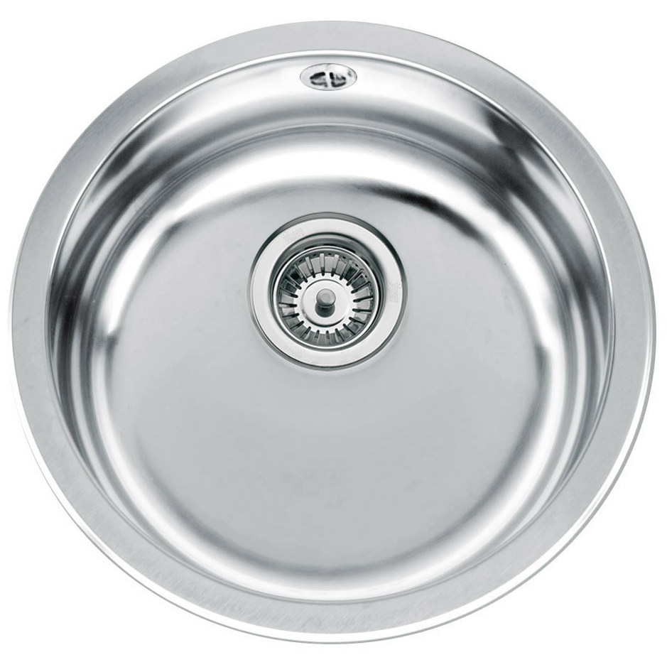 Teka ERC Stainless Steel 1.0 Bowl Round Inset Sink ...