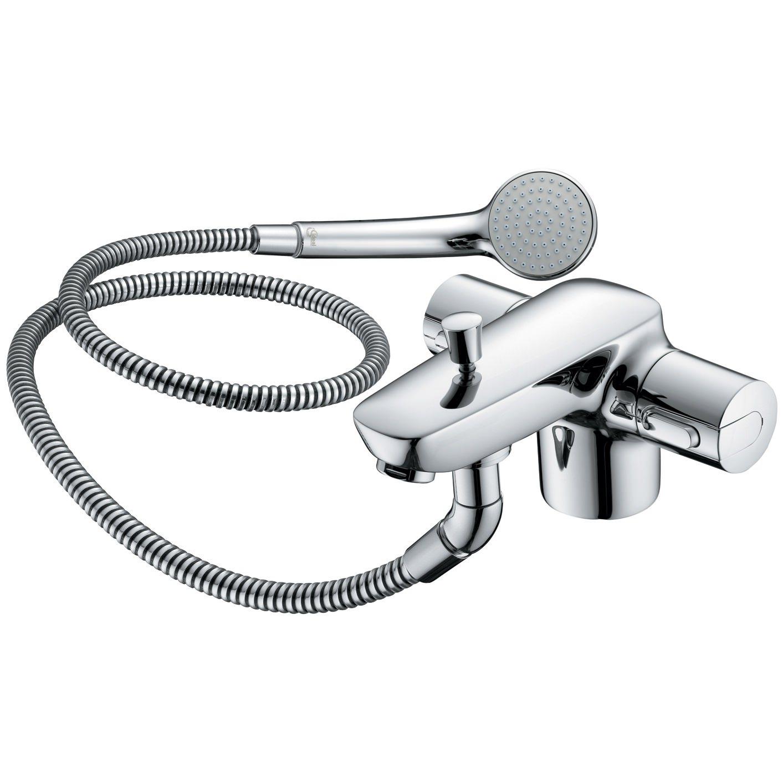ideal standard ceramix blue thermostatic bath shower mixer tap. Black Bedroom Furniture Sets. Home Design Ideas