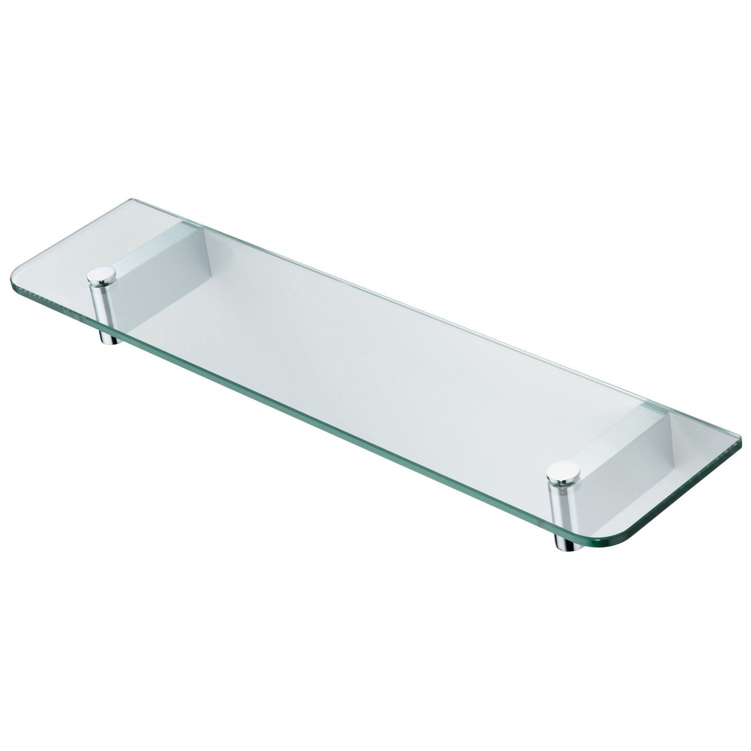 Glass shelving bathroom - Ideal Standard Concept 500mm Glass Shelf With Brackets N1324aa