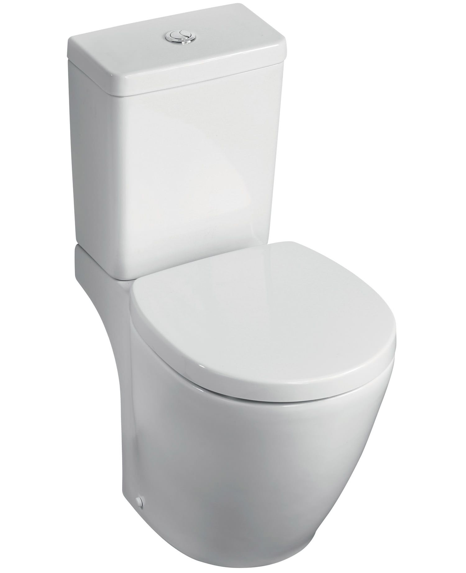 Ideal standard concept space cube compact close coupled wc pan 605mm e120501 - Small toilets for tight spaces concept ...