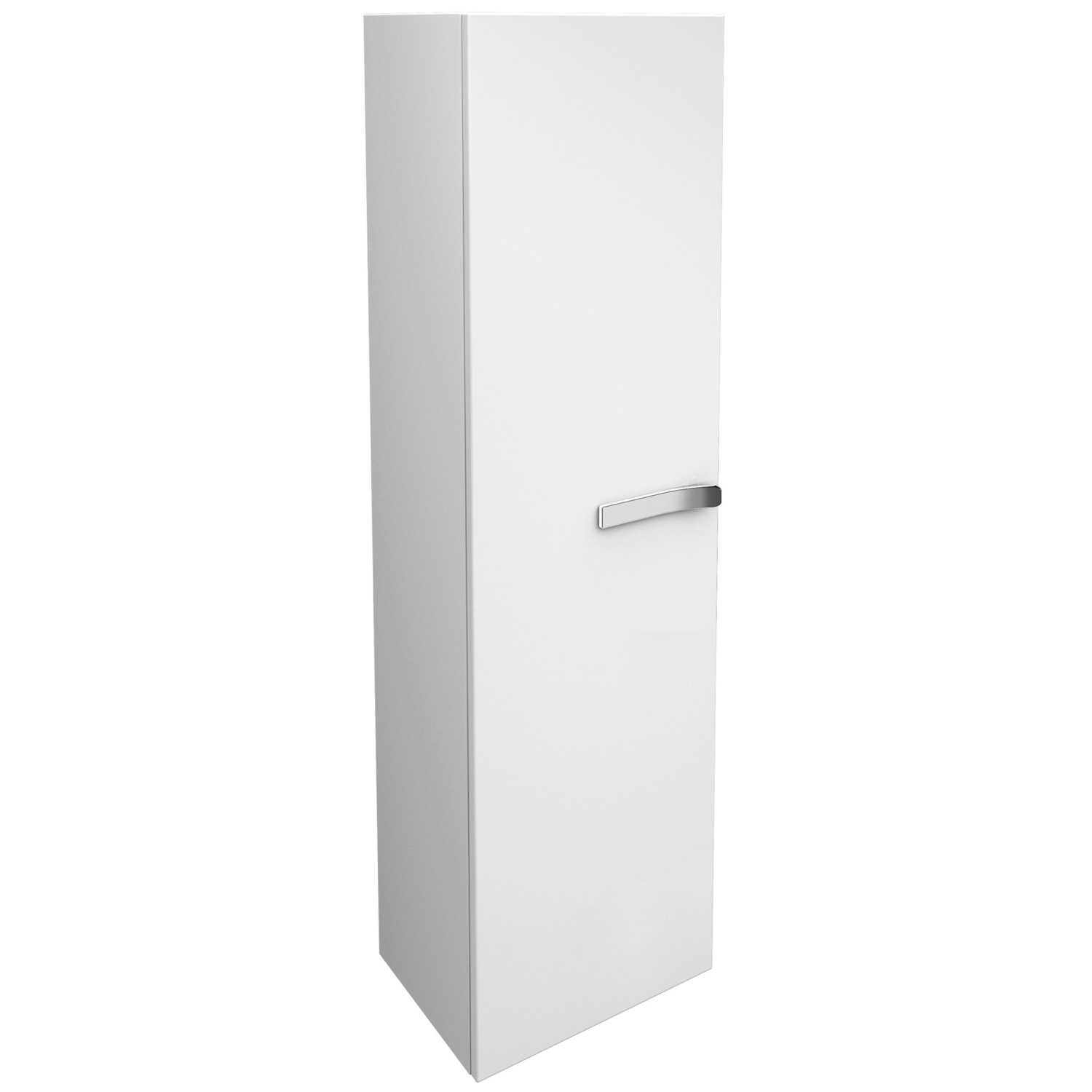 Ideal standard strada left hand 400mm tall storage unit white for White gloss tall kitchen units