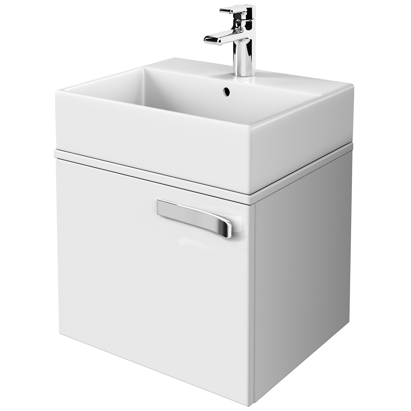 ideal standard strada gloss white 600mm basin unit with. Black Bedroom Furniture Sets. Home Design Ideas