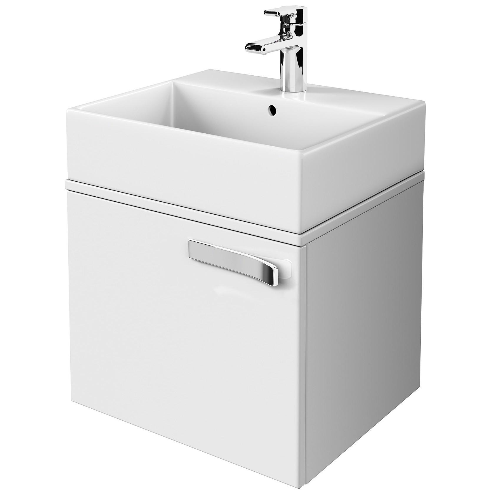 ideal standard strada gloss white 600mm basin unit with worktop. Black Bedroom Furniture Sets. Home Design Ideas
