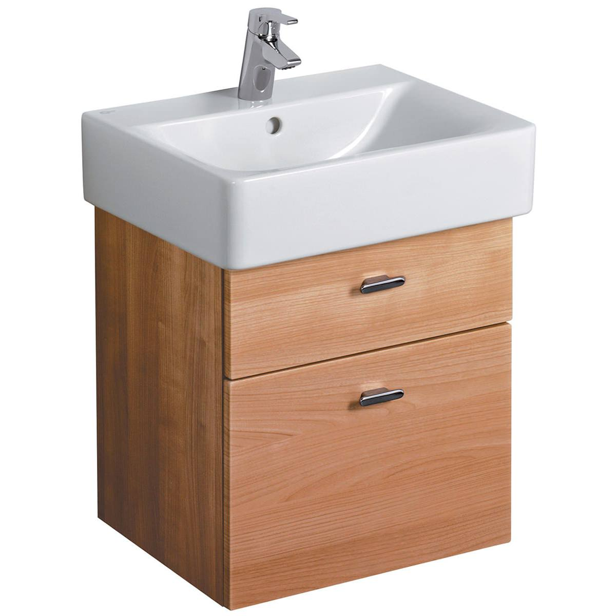 ideal standard concept cube 450mm wall hung 2 drawer basin. Black Bedroom Furniture Sets. Home Design Ideas