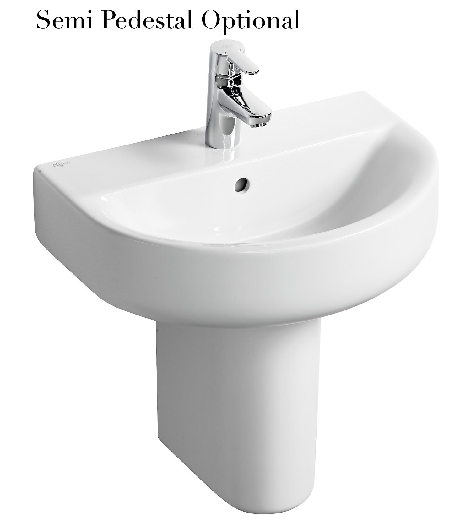 ... Additional Image Of Ideal Standard Concept Space Arc 550mm Short  Projection Basin