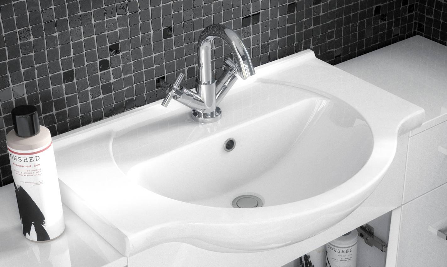 Premier Mayford 1 Door Bathroom Vanity Unit With Back To