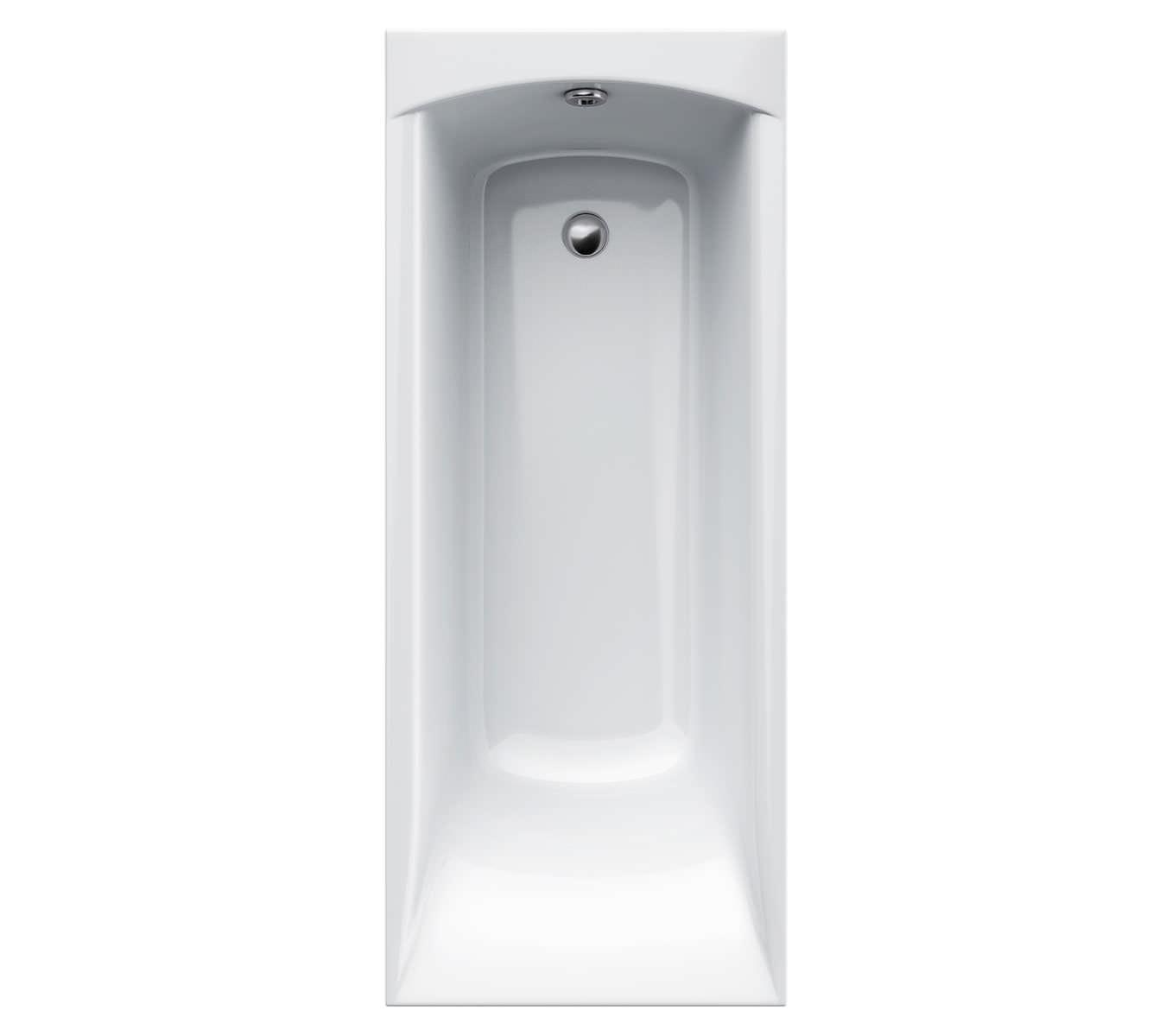 carron delta 5mm acrylic single ended rectangular bath