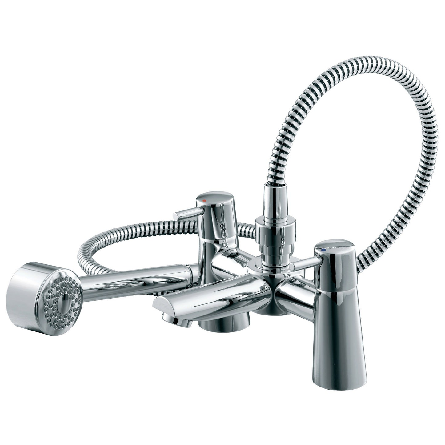 ideal standard cone bath shower mixer tap with shower kit. Black Bedroom Furniture Sets. Home Design Ideas